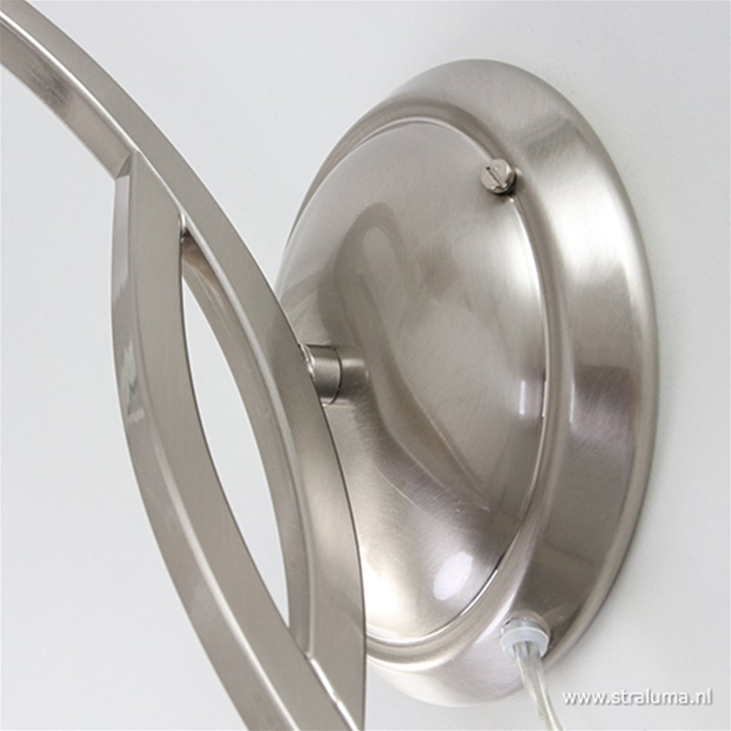 Wandlamp Capri staal/glas slaapkamer