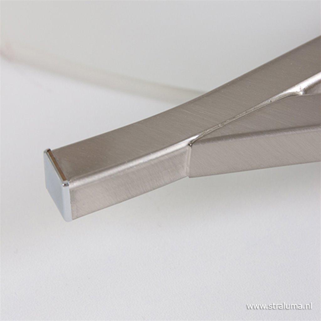 Wandlamp Capri staal/glas woonkamer