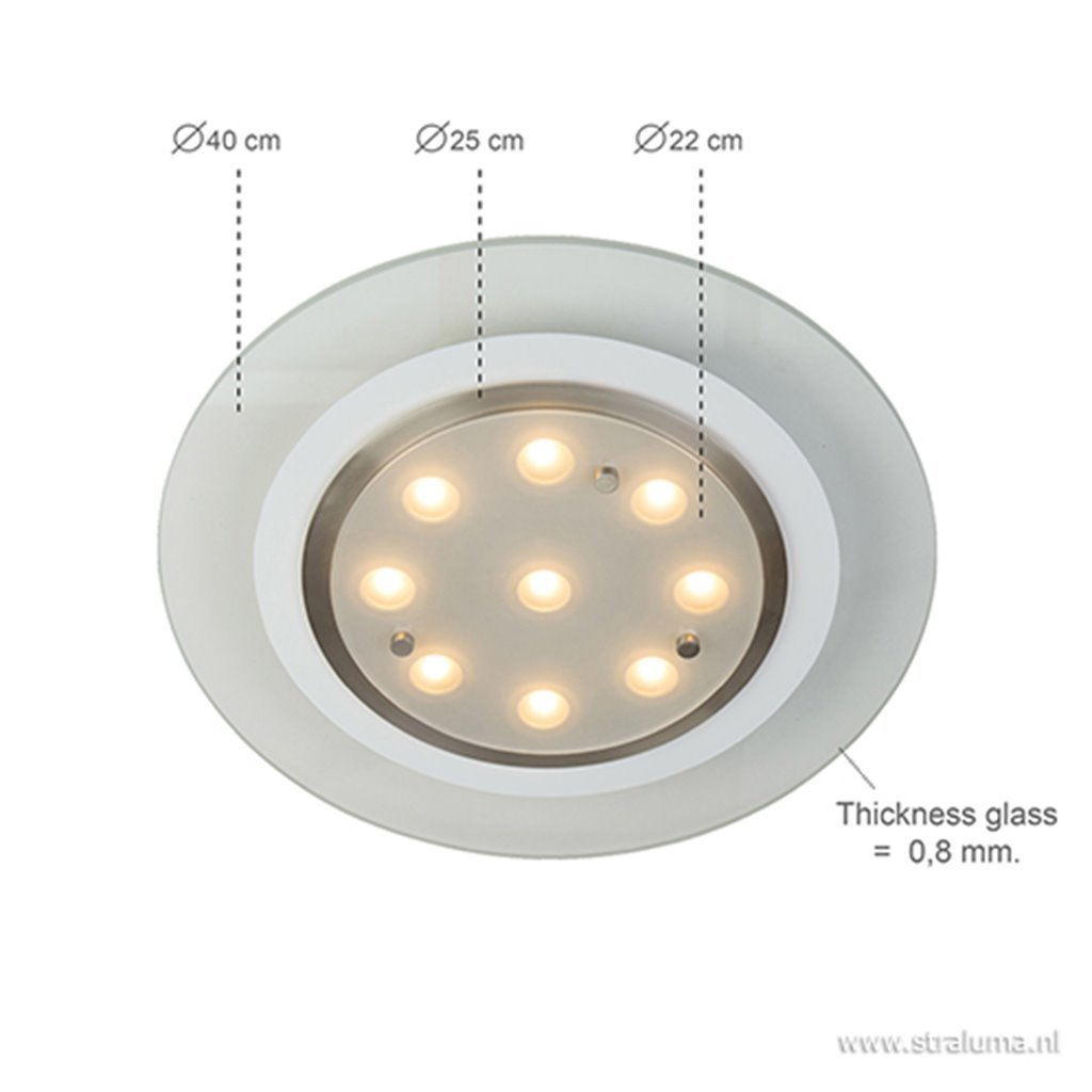 Moderne plafondlamp LED rond 40 cm