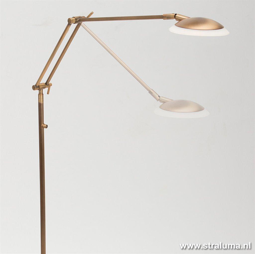 Klassieke leeslamp brons LED dimbaar