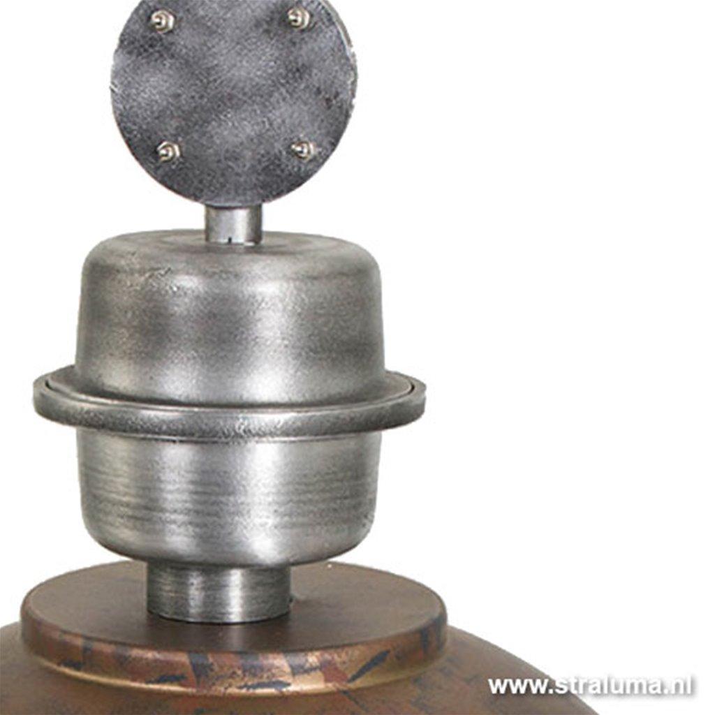 Industriële hanglamp bruin/brons tafel