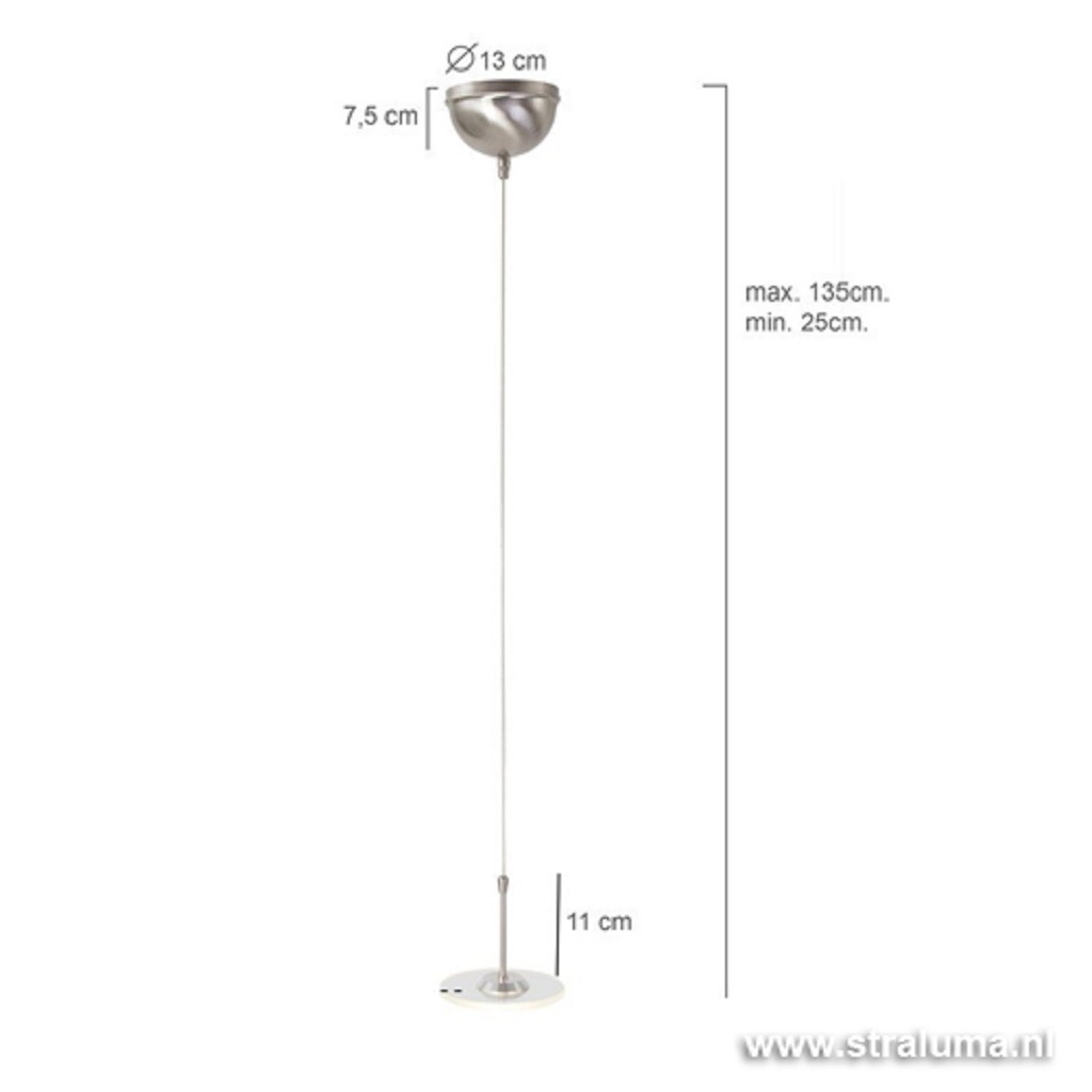 **Hangl. Santander pendel 1-lichts staal