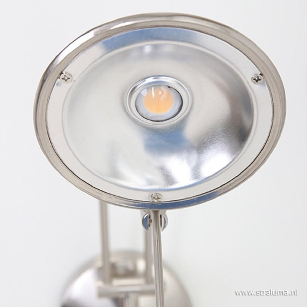 *Wandlamp Tamara staal dimb. slaapkamer