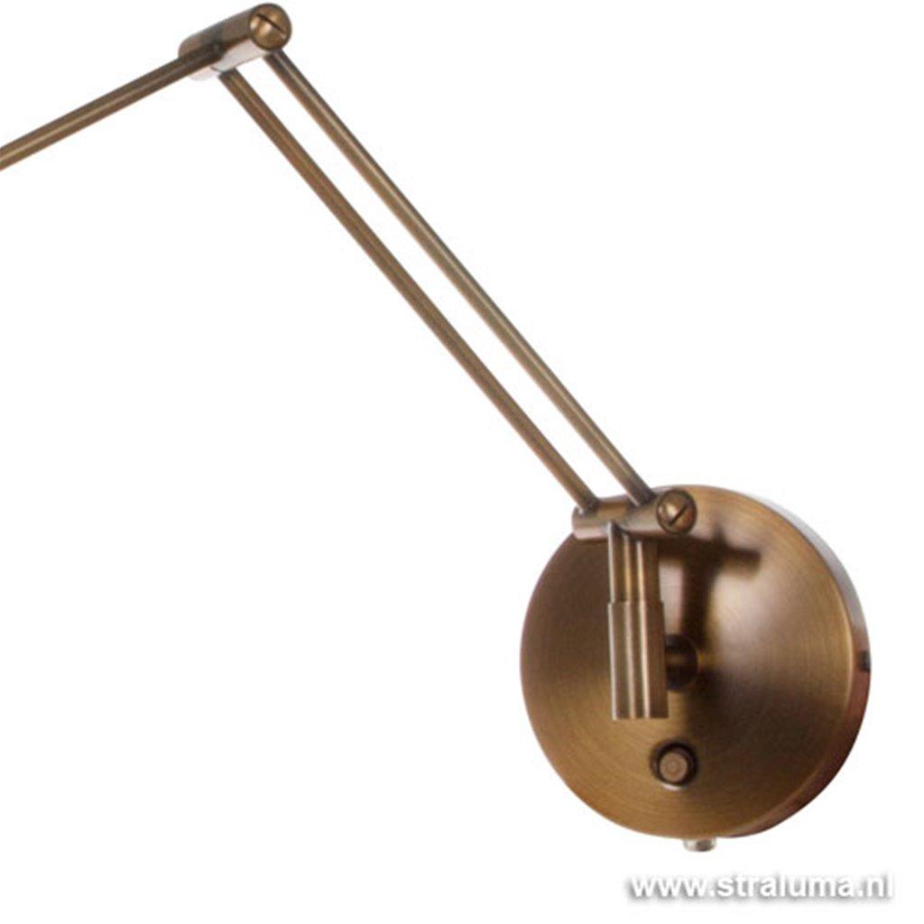 *Wandlamp-leeslamp Tamara brons dimbaar