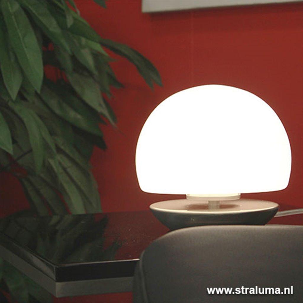 Bolvormige tafellamp met touchdimmer