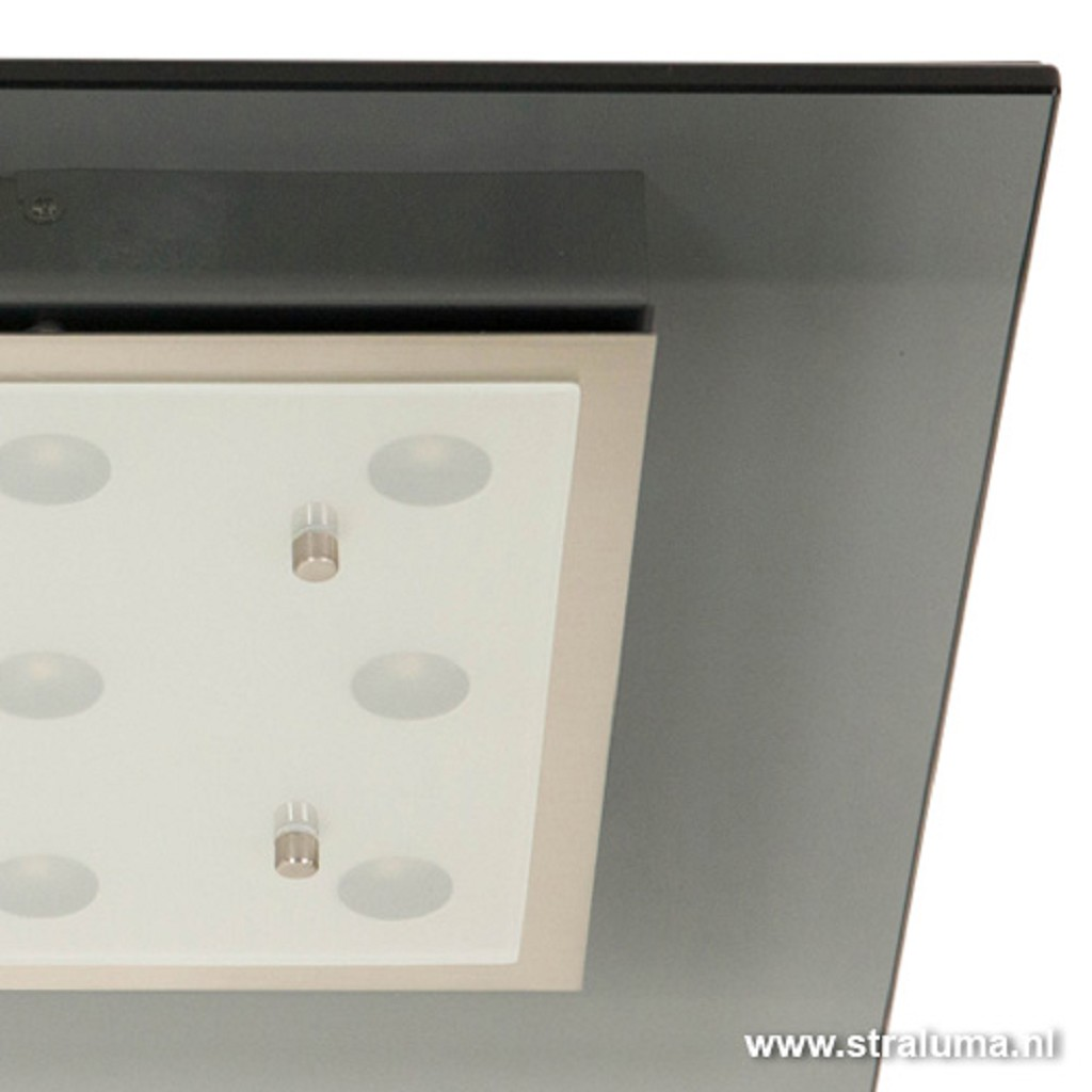 LED plafondlamp vierkant met donker