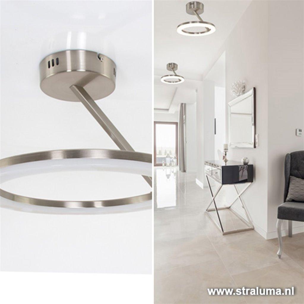 Moderne plafondlamp LED staal