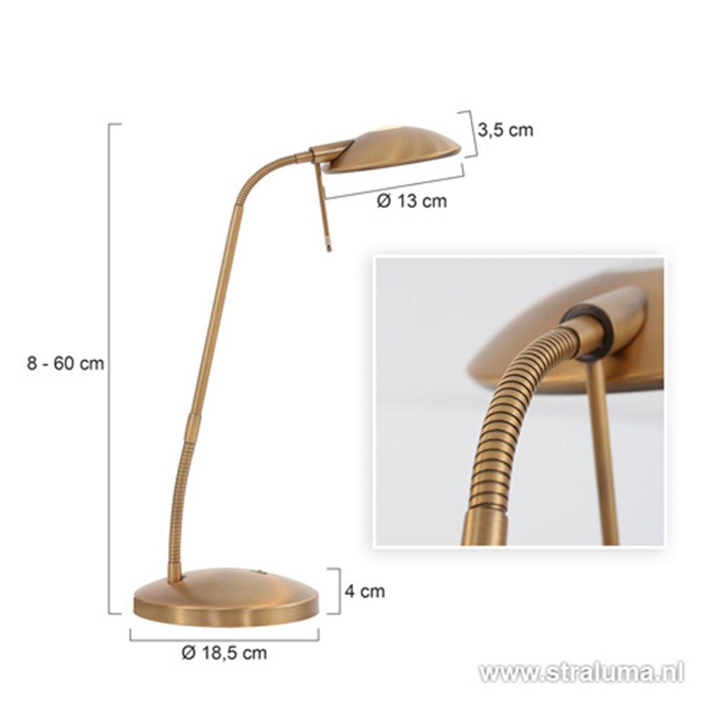 **Klassieke Led Tafellamp-Bureaul. Brons