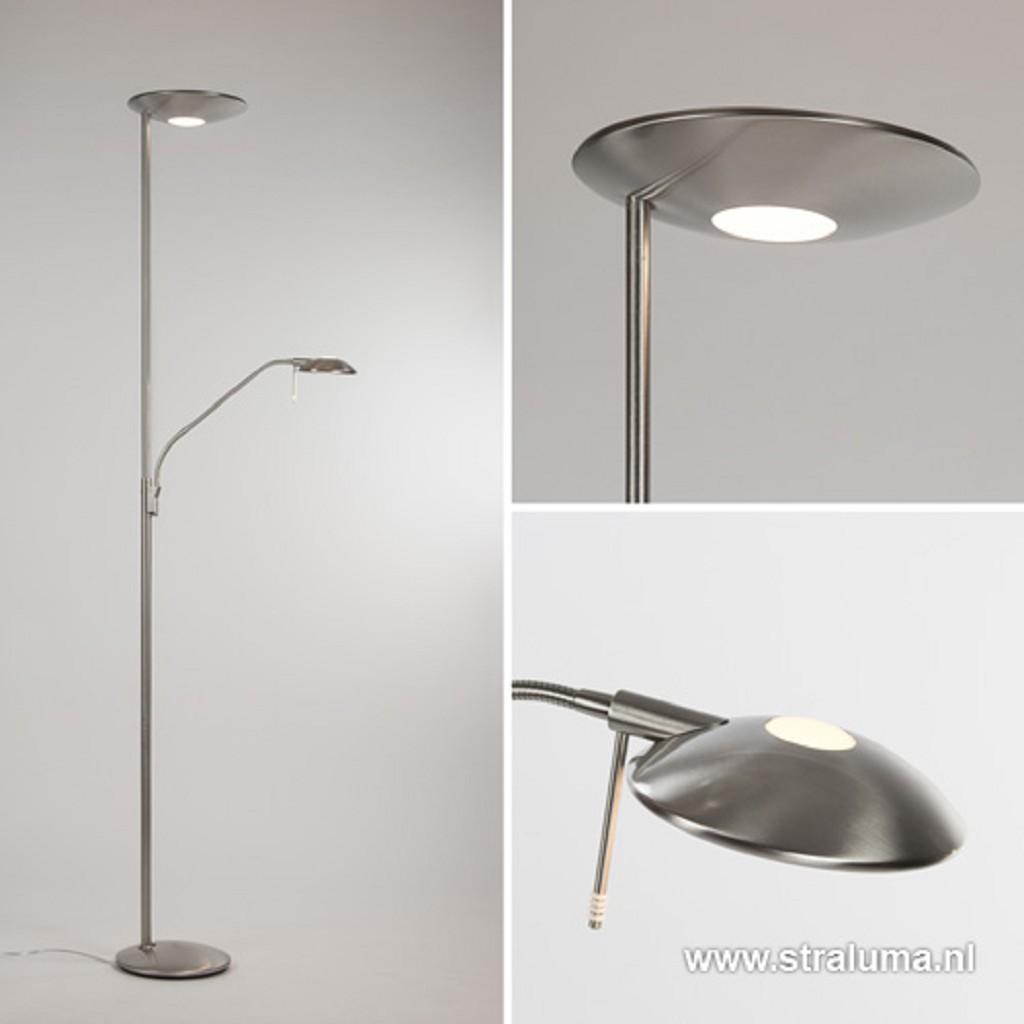 Moderne LED uplighter-vloerlamp dimbaar