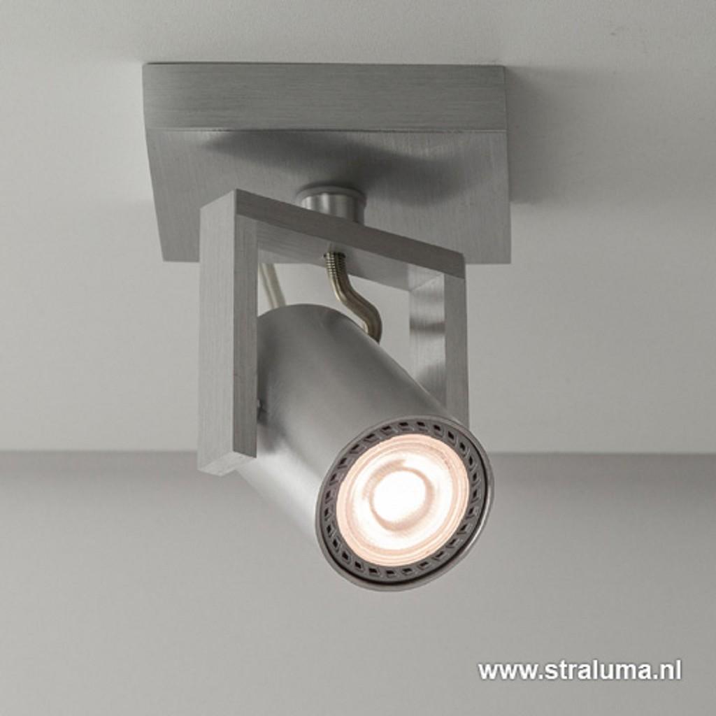 Spot alu 1-lichts + led gu10