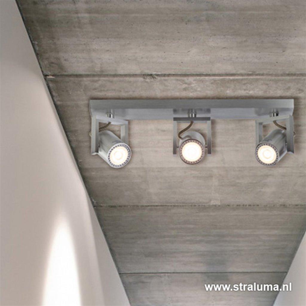 Spot alu 3-lichts + led gu10