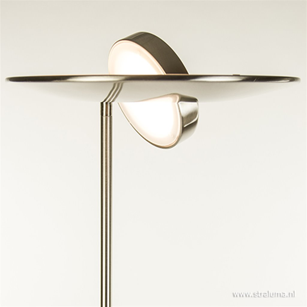 LED staande lamp-uplighter staal-dimbaar
