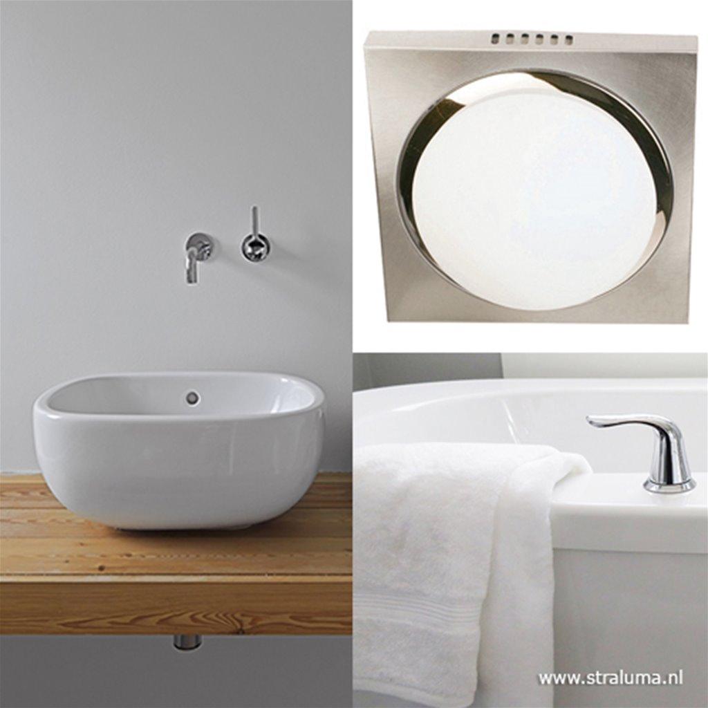 LED plafonnière-badkamerlamp vierkant