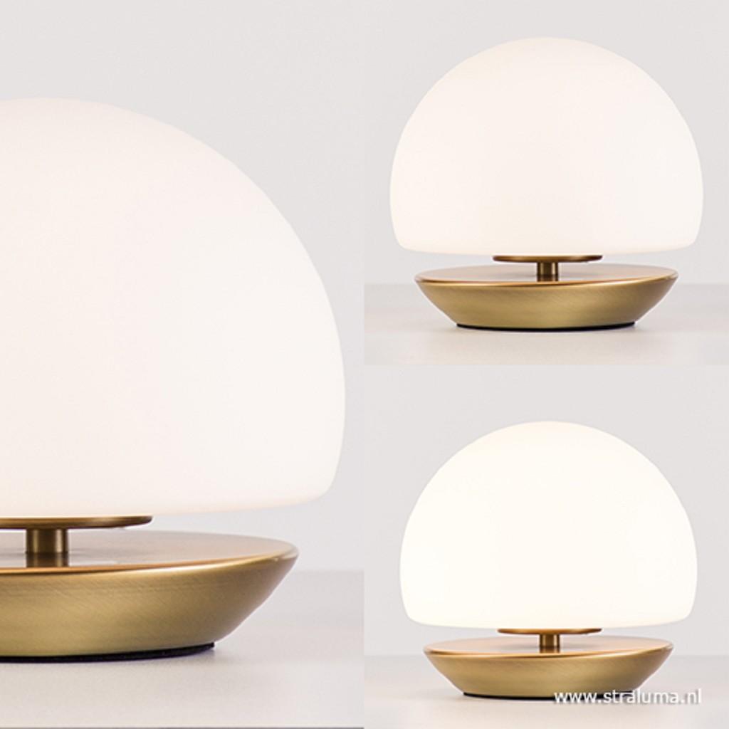 Klassieke LED tafellamp brons dimbaar