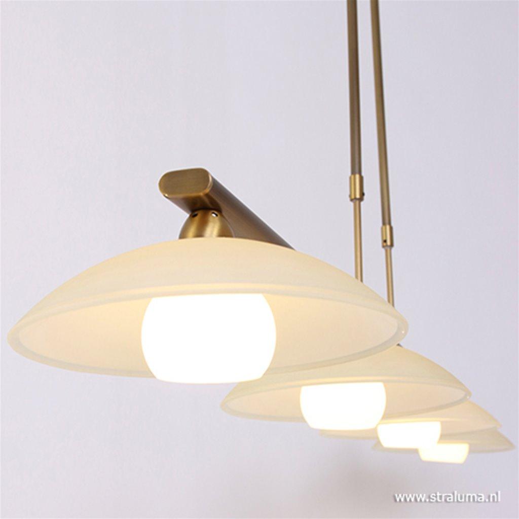 Bronzen eettafel hanglamp Monarch LED