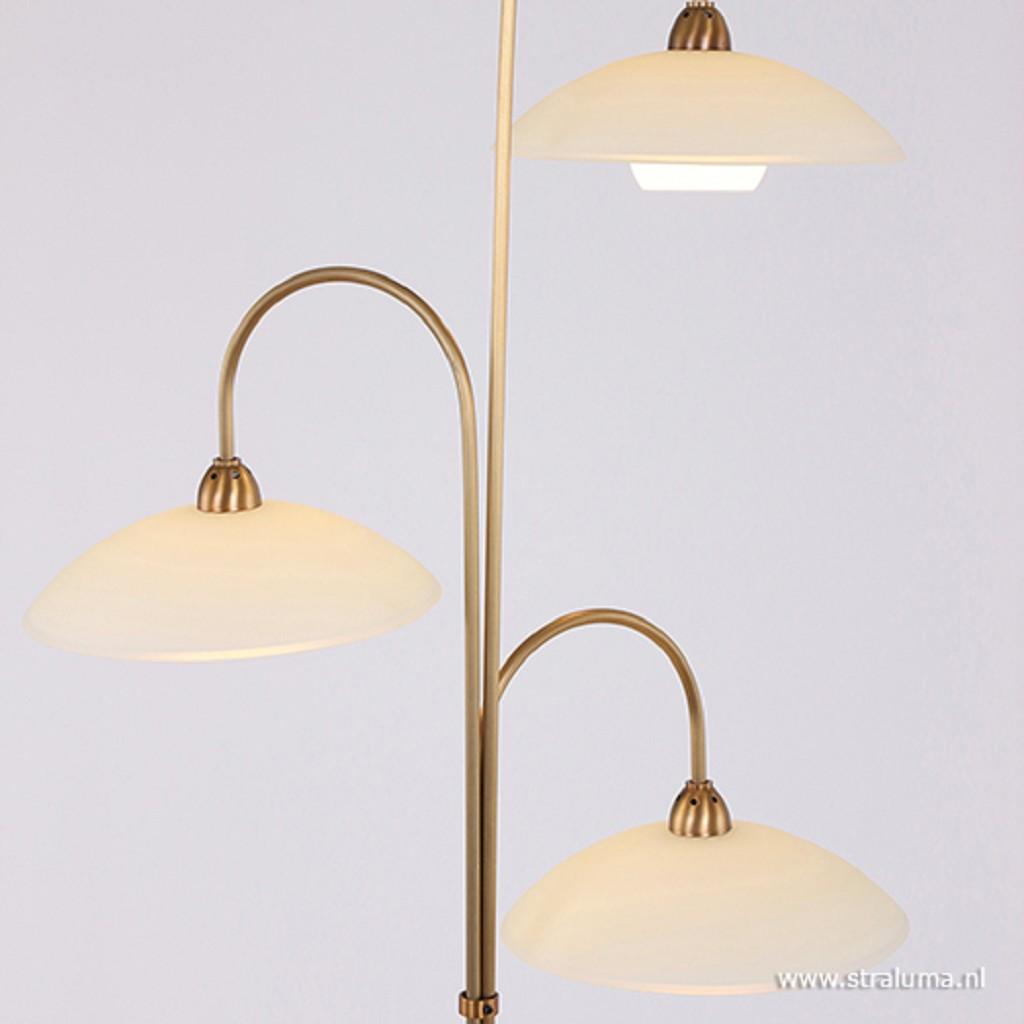 Bronzen LED vloerlamp inclusief dimmer
