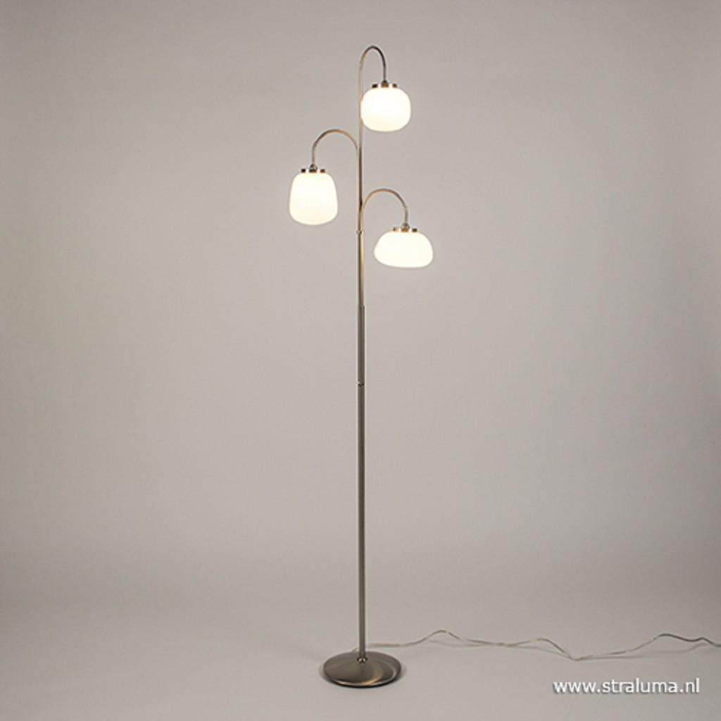 3-Lichts LED vloerlamp Bollique dimbaar