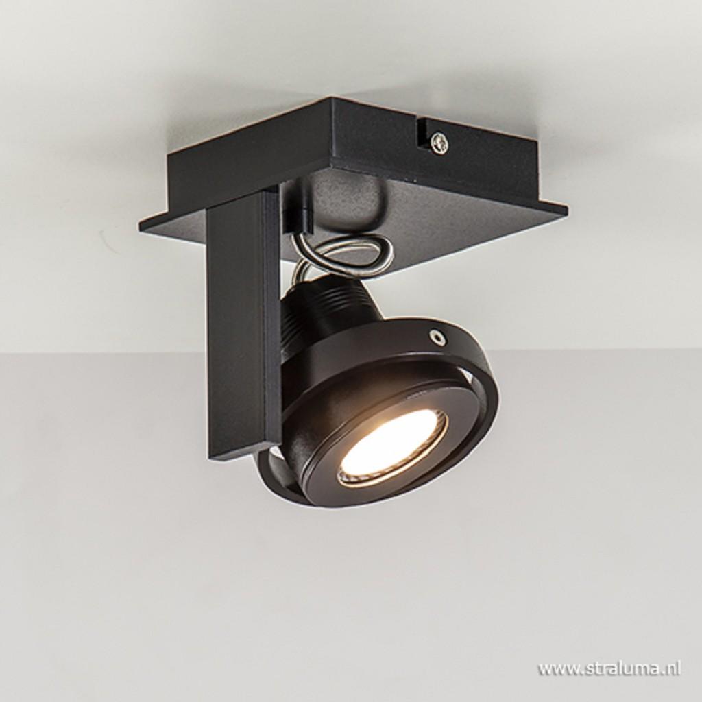 Industriële plafondspot zwart incl LED