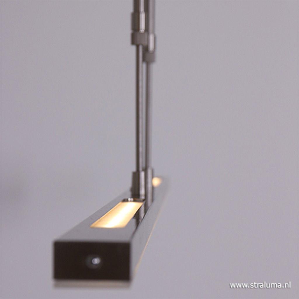 Hanglamp zwart balk 2xpushdimmer CCT