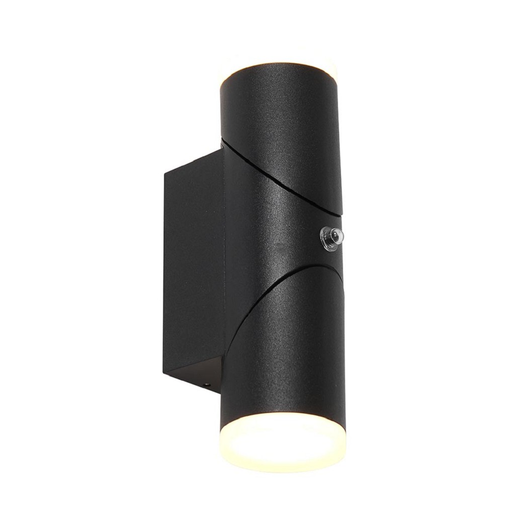 Moderne LED buitenlamp met verstelbare spots en sensor