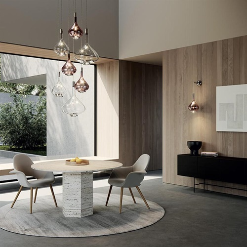 Luxe design hanglamp Sky-Fall helder glas inclusief LED