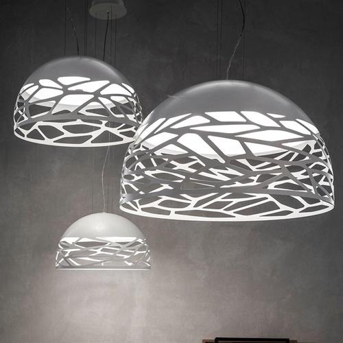 Hanglamp Kelly koepel 50cm wit