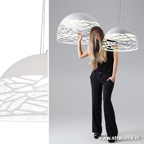 **Hanglamp Kelly koepel 80cm wit