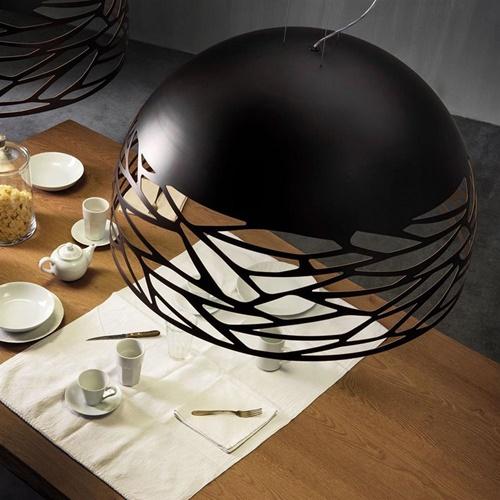 Hanglamp Kelly Dome zwart 60cm