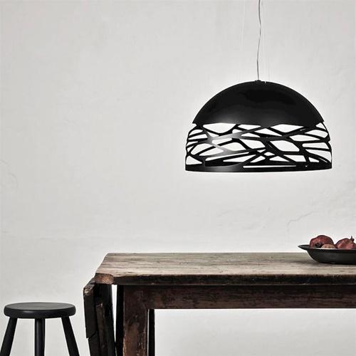 Hanglamp Kelly Dome zwart 50cm