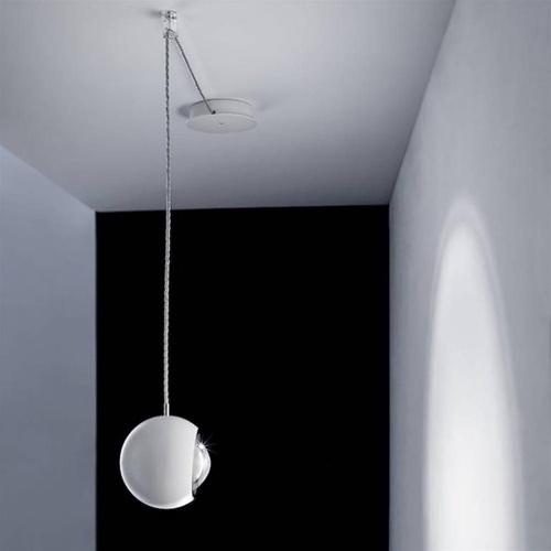 Kleine Italiaanse design hanglamp LED bol Spider wit