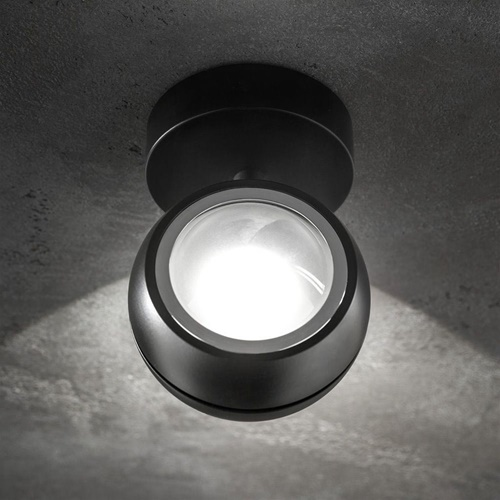 LED wandlamp up+down Nautilus Mini zwart verstelbaar