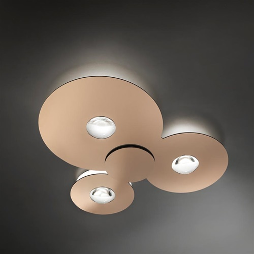 Plafondlamp Bugia Triple glossy bronze