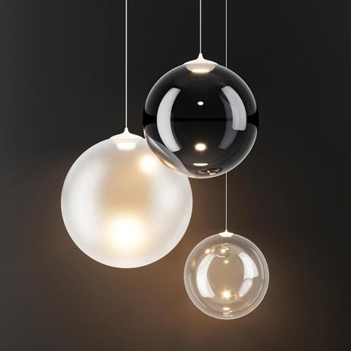 Glazen hanglamp Random Solo frosted wit 28 cm