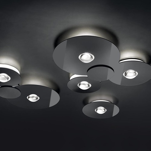 Grote design LED plafondlamp Bugia Mega glossy zwart