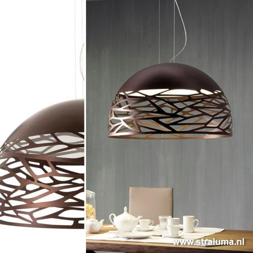 Grote hanglamp kelly koepel eettafel straluma - Grote tafellamp ...