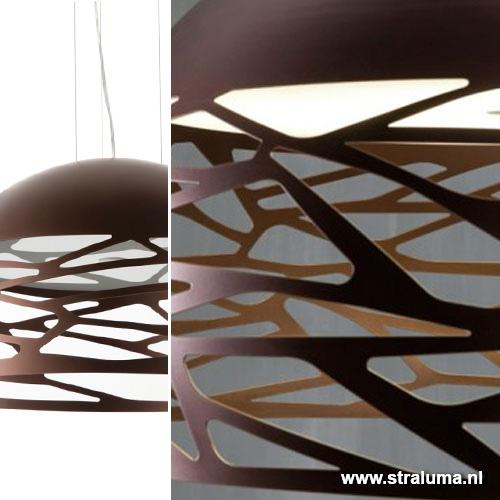 hanglamp kelly koepel brons woonkamer straluma