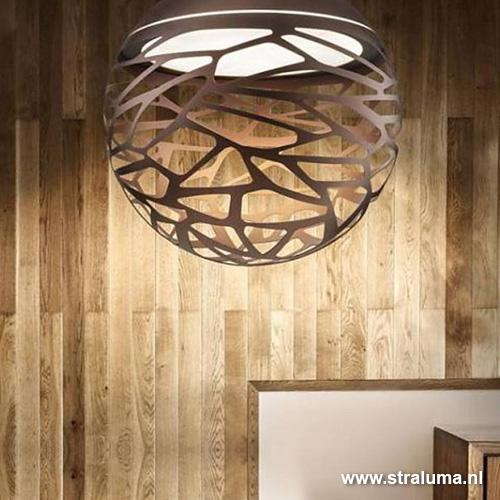 design hanglamp kelly bol brons groot straluma