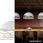 **Hanglamp koepel 50cm wit 3xe27