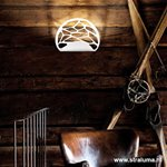 Design wandlamp wit Kelly