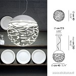 **Design hanglamp Kelly bol wit