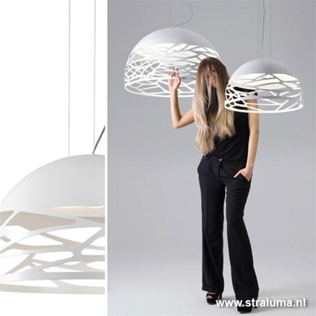 Hanglamp koepel 50cm wit 3xe27