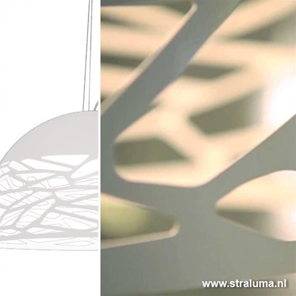 Kelly witte design hanglamp groot