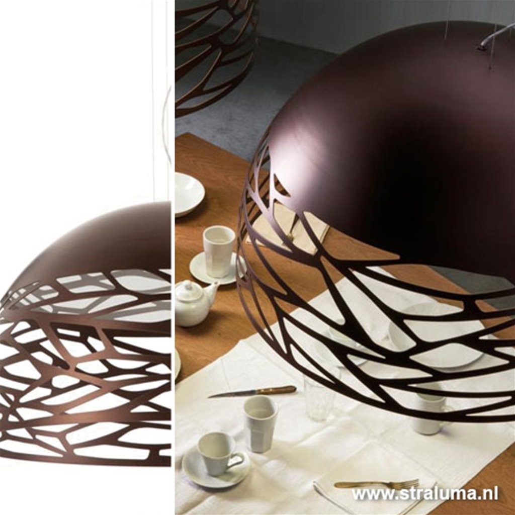 Grote hanglamp Kelly koepel eettafel
