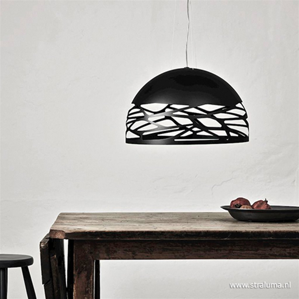 Design hanglamp koepel Kelly zwart