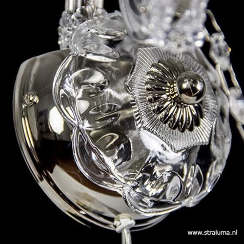 Mooie wandlamp Maria Theresa 2-lichts