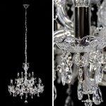 *Hanglamp kroonluchter kristal 12-lichts