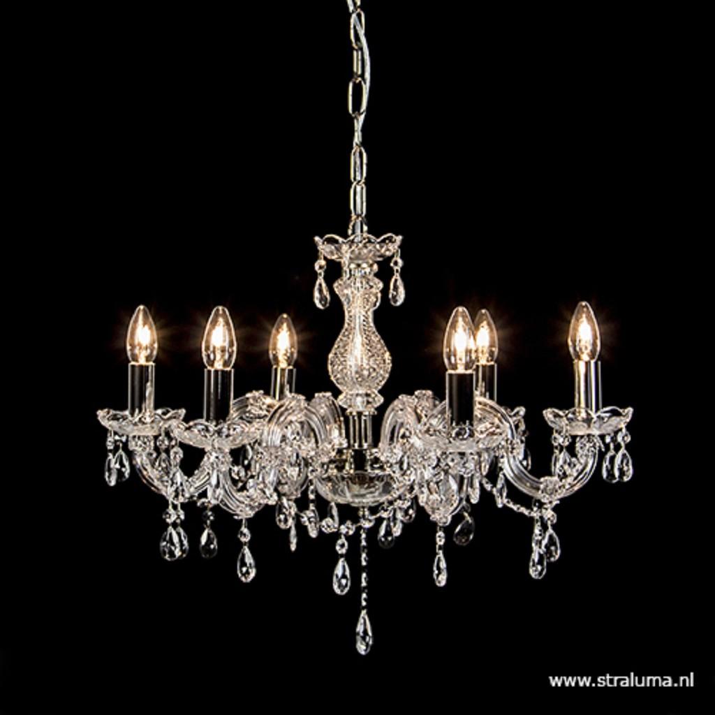 Hanglamp- kroonluchter met kristal/glas