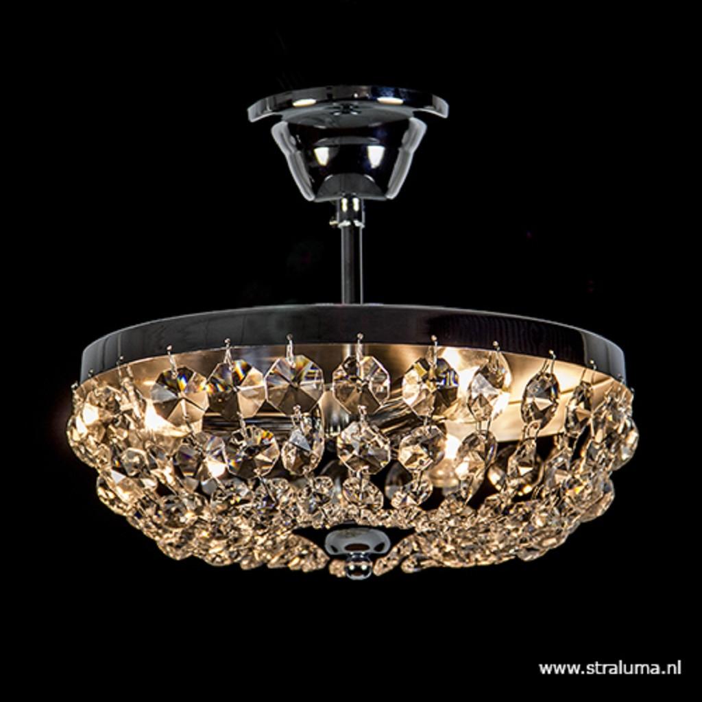 Luxe kristallen plafondlamp rond 31cm