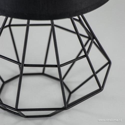 Draad tafellamp-schemerlamp zwart