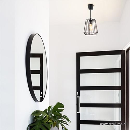 Zwarte hanglamp draad hal, keuken, bar